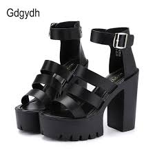 <b>BYQDY New 2020</b> Summer Buckle Strap Woman Sandals Woman ...