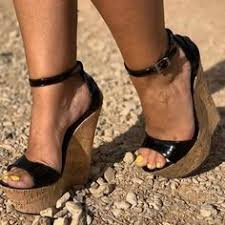 Buckle Heel Covering Open Toe Stiletto Heel Cartoon Thread ...