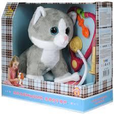 """Интерактивная <b>игрушка Fluffy Family</b> """"Маленький доктор Кот"""", с ..."""