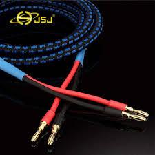 <b>JSJ</b> Hi end balanced Banana <b>Copper Speaker</b> Audio <b>Cable</b> Golden ...