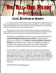 reading activities edgar allan poe and activities on pinterest insanity plea    quotthe tell tale heartquot by edgar