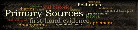 Primary Sources word cloud