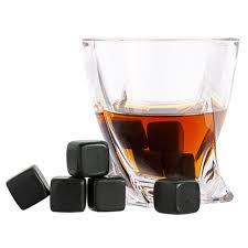 <b>Камни для охлаждения напитков</b> Black Rocks с логотипом ...