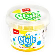 "STYLE <b>SLIME</b> блестящий ""Жёлтый с ароматом банана"""