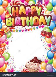 template happy birthday card stock vector 136249970 shutterstock template for happy birthday card