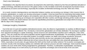 essay on globalisation and food a pre test gp essay on globalisation was administered in week  of the four