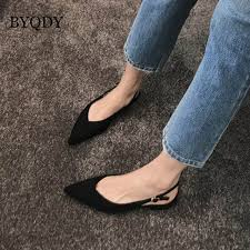 Online Shop <b>BYQDY</b> 2019 Fashion Black Low Heels <b>Women</b> Pumps ...