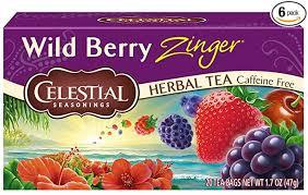 Celestial Seasonings <b>Herbal Tea</b>, <b>Wild</b> Berry Zinger, 20 Count per ...