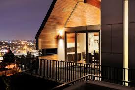 balcony lighting indirectly soft yellow wood wall plaque balcony lighting