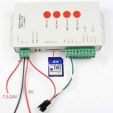 LED <b>T1000S 128 SD Card</b> Pixels RGB full color Controller DC 5V ...