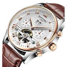 <b>KINYUED Men's Skeleton Watch</b> Wrist Watch Mechanical Watch ...