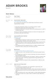 day trader resume samples equity trader resume