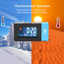 <b>LED Screen Projection</b> Clock Temperature Humidity Clock Rotating ...