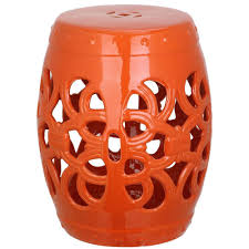 patio stool: imperial vine orange garden patio stool