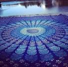 Mandala throw rug