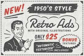 newspaper template photos graphics fonts themes templates 1950s style retro ad templates