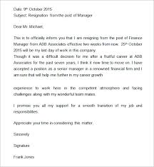 sample resignation letter  weeks notice  to write a professional    resignation sample