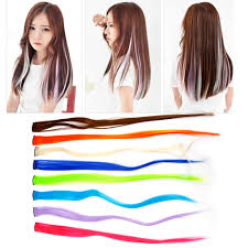 <b>1PCS</b> 1 Clip In 100% human hair Extensions Ombre <b>10 Colors</b> ...