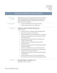 underwriter assistant resume samples tips and templates underwriter resume sample
