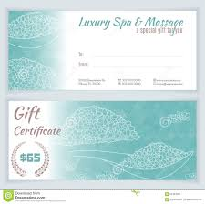spa massage gift certificate template stock vector image 64494332 spa massage gift certificate template
