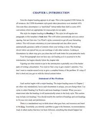 sample chapter   thesis paper