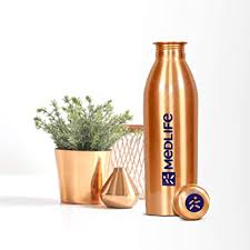 Medlife <b>Pure Copper</b> Water Bottle (1000 ML): Amazon.in: Home ...