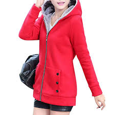 Leoie <b>Women</b> Fashion Autumn <b>Winter</b> Thicken Hooded Coat <b>Solid</b> ...