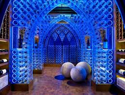 view in gallery blue led lighting and clear acrylic create a stunning modern wine cellar intoxicating design 29 cellar lighting