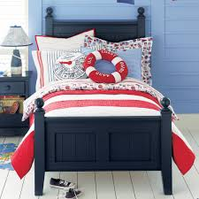 nautical theme boys bedroom red white and blue wallpaper blue themed boy kids bedroom