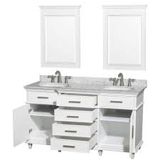 bathroom vanity 60 inch: ackley  inch white finish double sink bathroom vanity cabinet