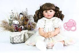 <b>60cm Silicone Reborn Baby</b> Doll Toy Realistic 24inch Vinyl Toddler ...