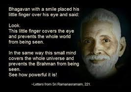 The Obstacle is the Mind ~ Sri Ramana | Luthar.com via Relatably.com