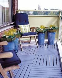 a cool looking and definitely eye catching apartment balcony dcor the wonderful blue colors blend balcony condo patio furniture