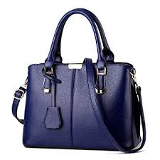Buy Leoie <b>Women</b> Fashion Shoulder Bag <b>PU Leather Solid</b> Color ...