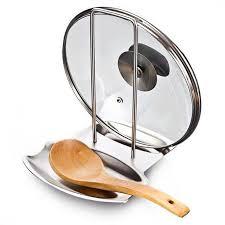 <b>1Pcs</b> Stainless Steel <b>Pot</b> Lid <b>Shelf</b> Kitchen Storage <b>Rack Stand</b> ...