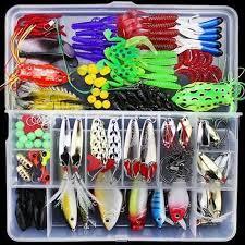 <b>Fishing Lures 141 Pcs Fish</b> Tools <b>Kit Set</b> With Plastic Box-buy at a ...
