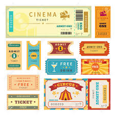 raffle stock vector illustration and royalty raffle clipart raffle retro tickets set temlate vector illustration for cinema and other events text