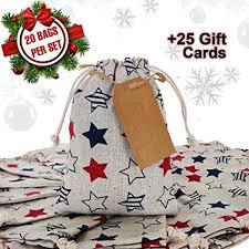 "Erimova - Goodie bags with drawstring <b>20 pcs</b> + 25 <b>Gift</b> cards, 8"" x 6"""