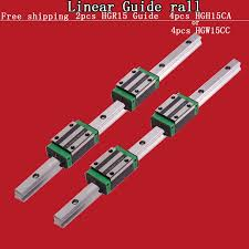 hgr15 linear guide rail 2pcs 200mm 4pcs hgh15ca block