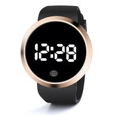 <b>New Round Touch Screen</b> LED Electronic Watch Casual Sports ...