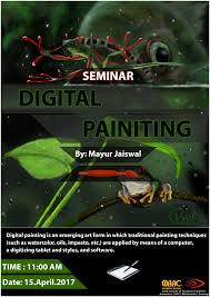 interior design institute maac karol bagh  seminar on digital painting by mr ur jaiswal at maac karolbagh maac faridabad
