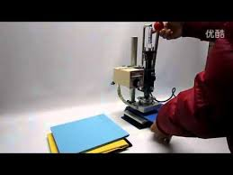 <b>manual hot foil stamping</b> machine on book,leather - YouTube