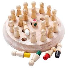 Buy grizzly classic <b>wooden color memory</b> chess intelligence game ...