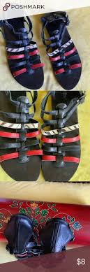 <b>Shoes</b> Black/Red/Zebra print <b>sandals</b> with back zipper Diba <b>Shoes</b> ...
