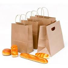 <b>10pcs</b> Recyclable <b>Kraft</b> Paper Party Bags Gift Bag With Handles ...