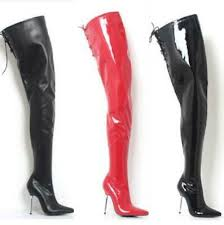 <b>Plus Size 36-46 Womens</b> Over Knee High Tight Boots Pointy Toe ...