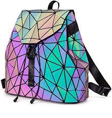 DIOMO Geometric Lingge Women <b>Backpack Luminous</b> Flash Mens