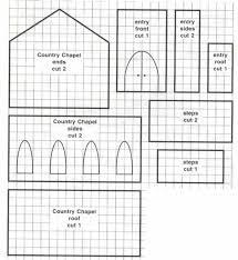 Gingerb House Blueprint   Chapel   Celebrating ChristmasCountry Chapel Gingerb House Blueprint