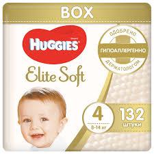 <b>Huggies подгузники Elite</b> Soft 4 (8-14 кг) 132 шт. — купить по ...