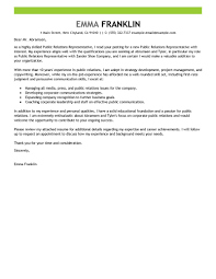 best public relations cover letter examples   livecareer